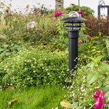 Tuinverlichting 230v zwart staand