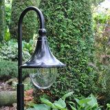 Tuinlamp zwart sfeerfoto