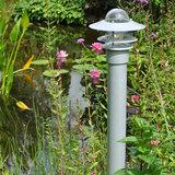 Tuinlamp staand zilver 230v