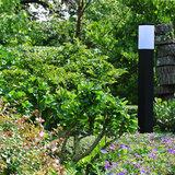 Tuinverlichting staand vierkant zwart
