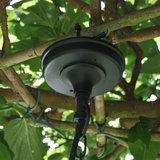 Stallamp detail zwart ketting