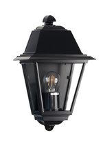 Venezia wandlamp plat, zwart
