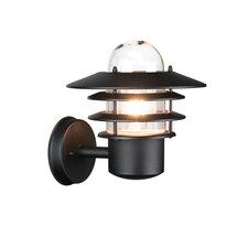 Led buiten wandlamp zwart 1315L