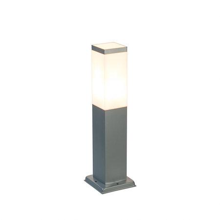 LED buitenlamp staand vierkant 230v zilver