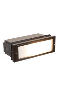 Buiten inbouw LED wandlamp zwart Victoria 1611L