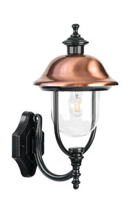 Verona-II buiten wandlamp zwart koper 230v