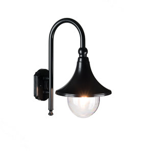 LED Buiten wandlamp zwart 230v Milaan 1210L