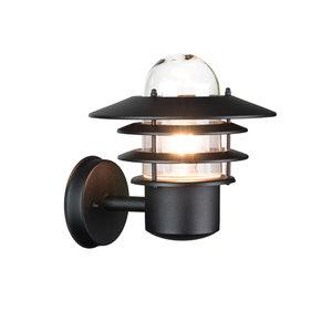 Buitenlamp wandlamp zwart 230 volt