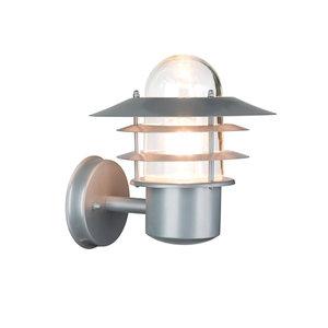 LED Buiten wandlamp zilver 230 volt