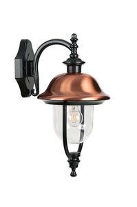 Verona-II buiten wandlamp hangend zwart 230v